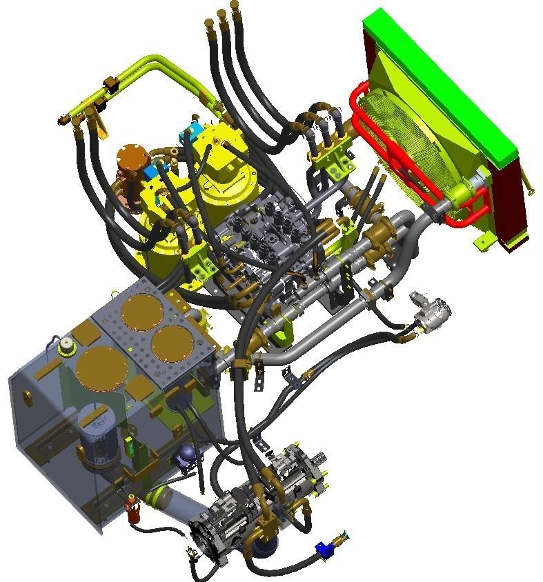 гидравлическая система экскаватора XCMG XE700D