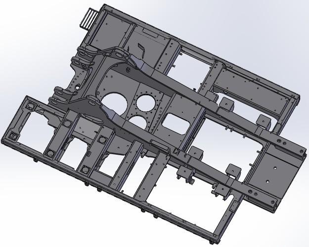 система платформы экскаватора XCMG XE700D