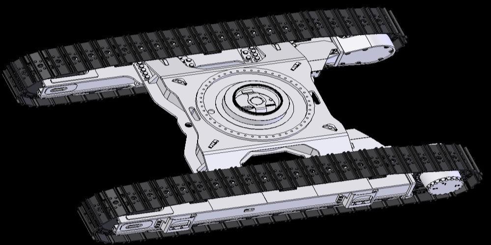 система шасси экскаватора XCMG XE700D